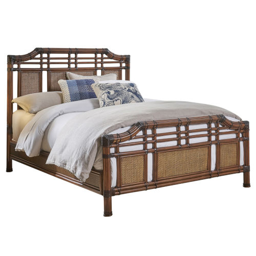 Palm Cove Queen Antique Queen Bed