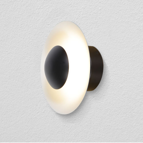 Rimini Black LED Wall Sconce Title 24