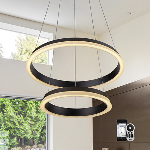 Tania Duo Black 25-Inch LED Chandelier