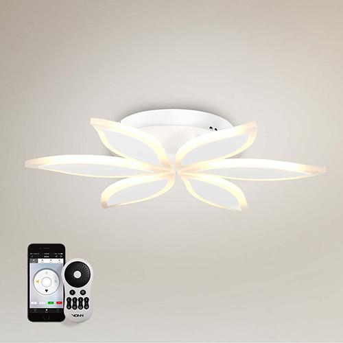Capella White LED Semi Flush Mount