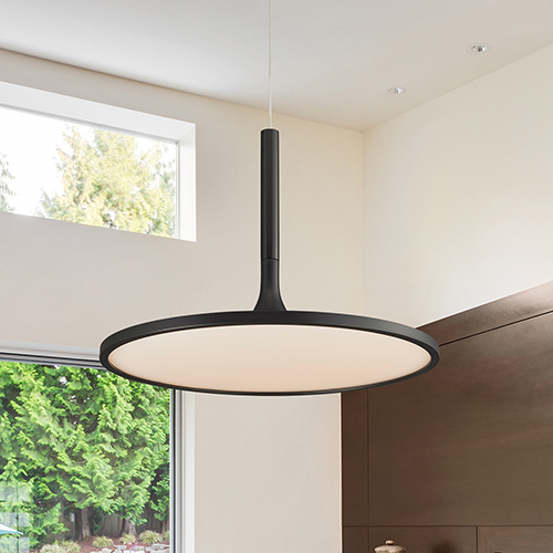 Salm Black 17-Inch LED Adjustable Chandelier