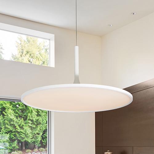 Salm White 24-Inch LED Adjustable Chandelier