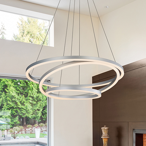 Tania Trio Silver LED Adjustable Chandelier