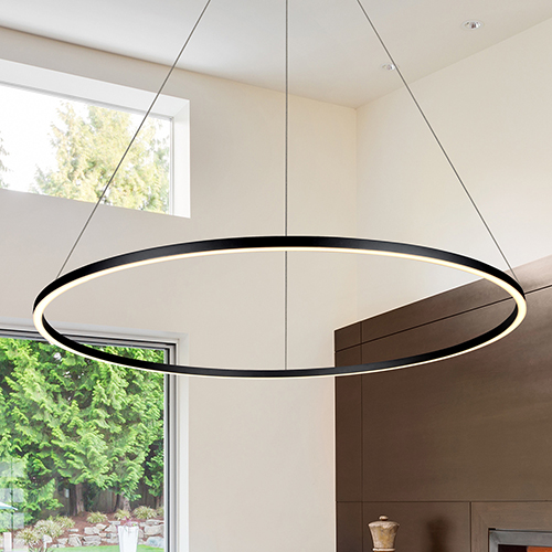 Tania Black 51-Inch LED Adjustable Chandelier