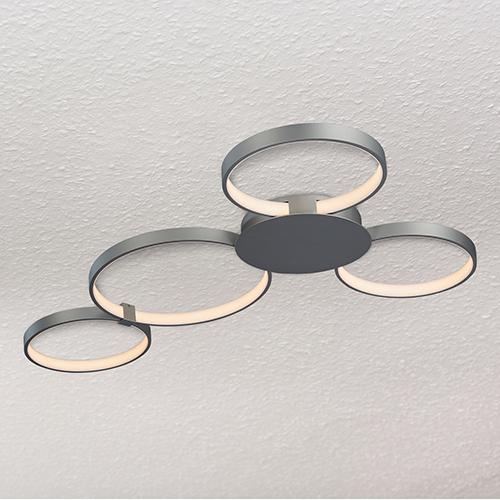Capella Silver 29-Inch LED Semi Flush Mount