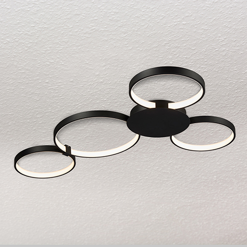 Capella Black LED Semi Flush Mount