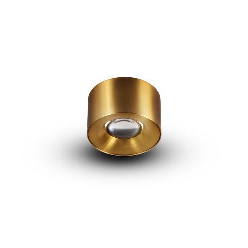 Node Antique Brass 8W Round LED Flush Mounted Downlight