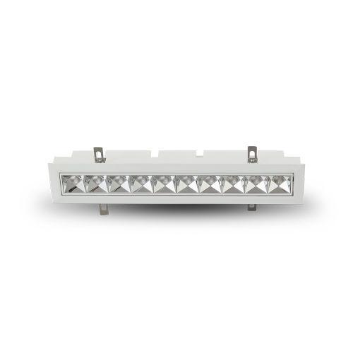 Rubik White 10-Light Adjustable LED Recessed Downlight