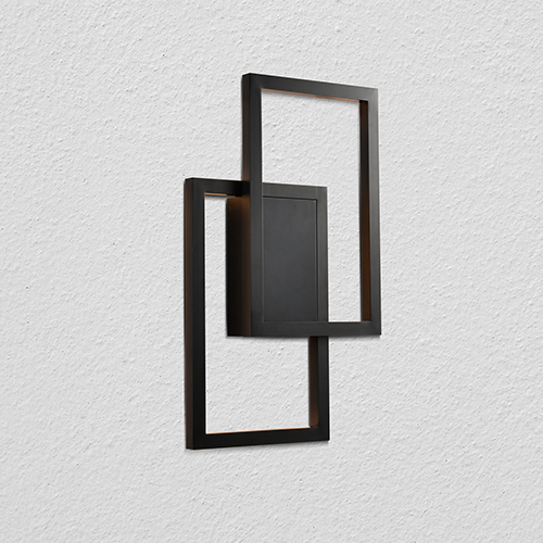 Radium Black Two-Light LED Wall Sconce
