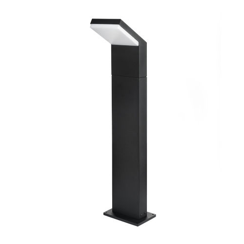 Matte Black LED Outdoor Bollard