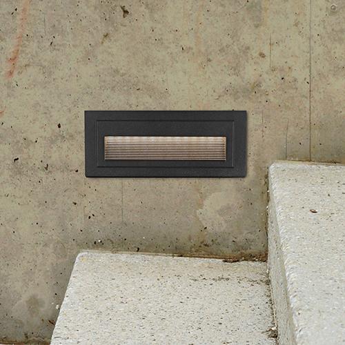 Matt Black Eight-Inch 12V LED Outdoor Step Light