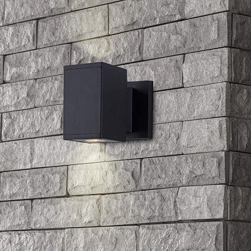 Matt Black Six-Inch 10 Watt LED Outdoor Wall Sconce