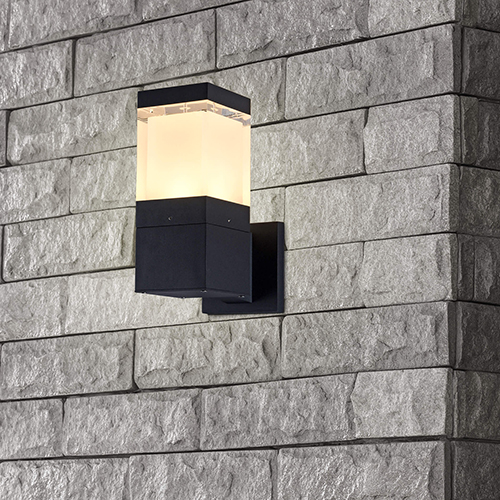 Matt Black Five-Inch LED Outdoor Wall Sconce
