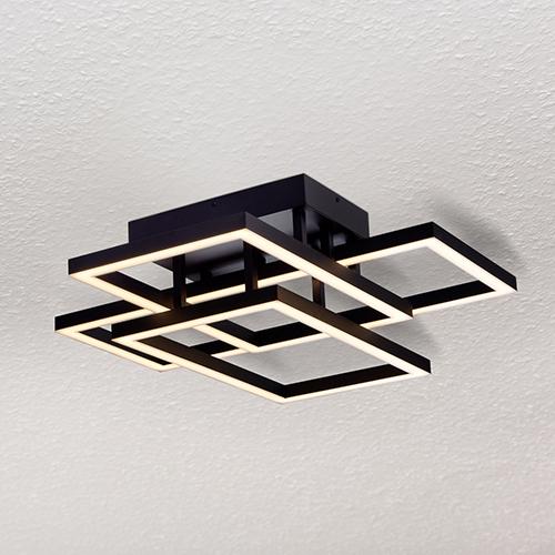 Radium Black 28-Inch LED Semi Flush Mount