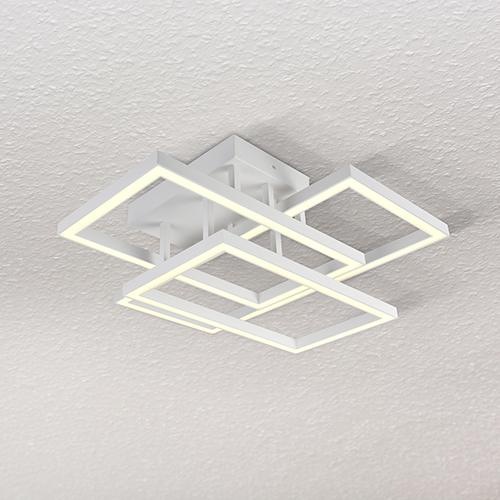 Radium White LED Semi Flush Mount