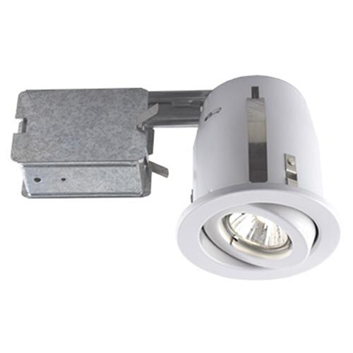 Serie 300 White One-Light Recessed Halogen Lighting Kit, Set of 10