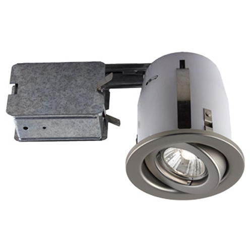 Serie 300 Satin One-Light Recessed Halogen Lighting Kit