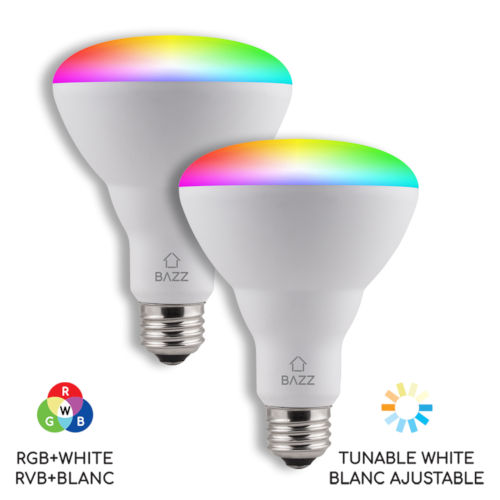 White Wi-Fi RGB LED Bulb, Pack of 2