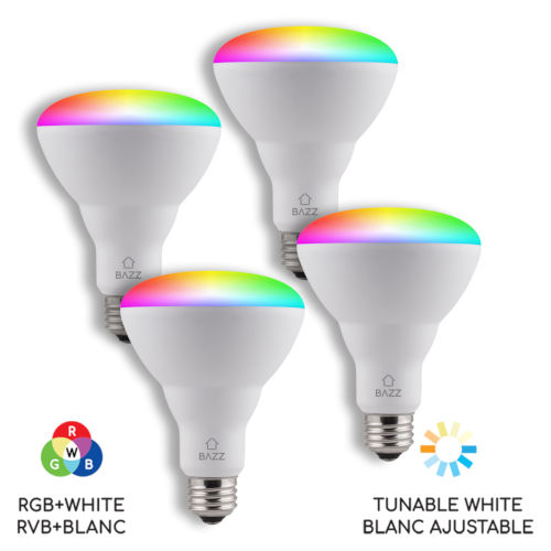 White Wi-Fi RGB 10W LED Bulb, Pack of 4