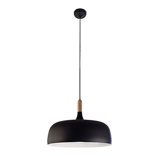 Loft Matte Black One-Light Pendant