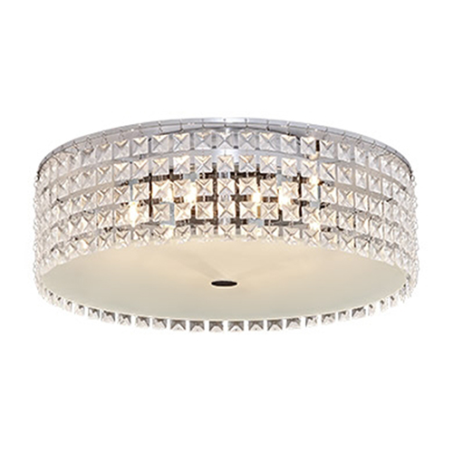 Glam Gatsby Chrome One-Light Flush Mount