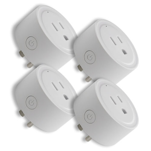 White Smart Wi-Fi Plug, Pack of 4