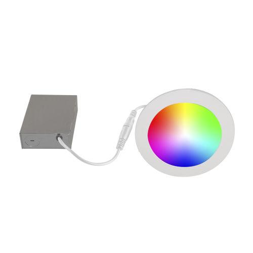 White Wi-Fi RGB LED Recessed Fixture Kit