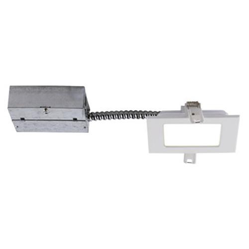 Slim Matte White Integrated LED Recessed Lighting Kit