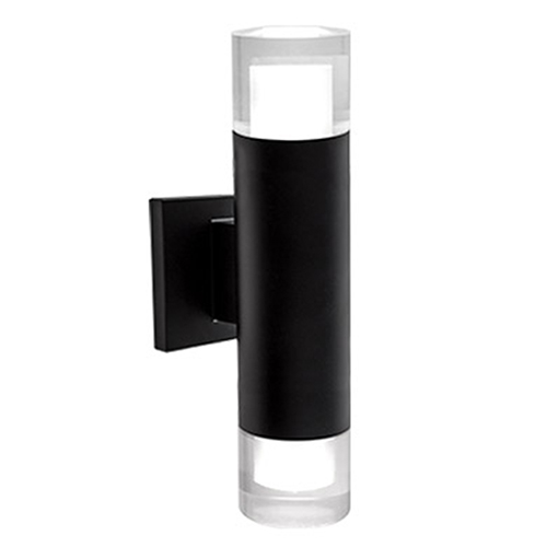 Luvia Black Five-Inch LED Wall Sconce