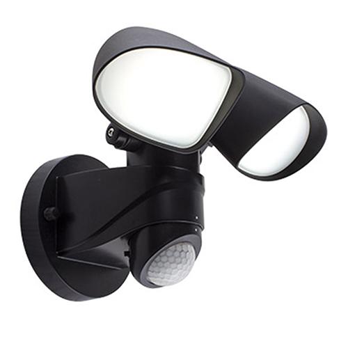 Zone Black Plastic LED Motion Sensor Security Light