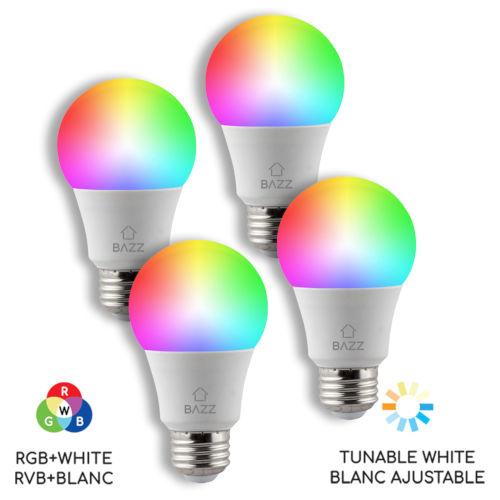 White Wi-Fi RGB LED Bulb, Pack of 4