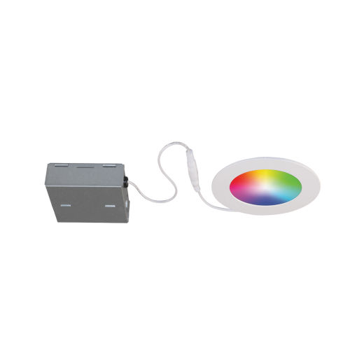 Matte White RGB LED Recessed Fixture Kit