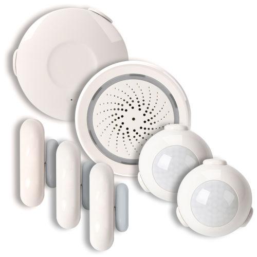 White Smart Wi-Fi Household Alarm Kit