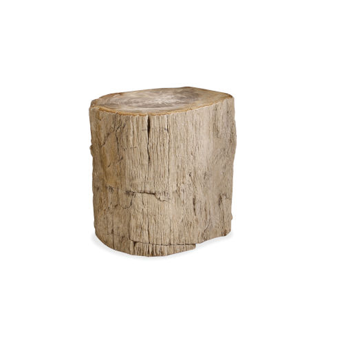Petrified Brown Wood Side Table
