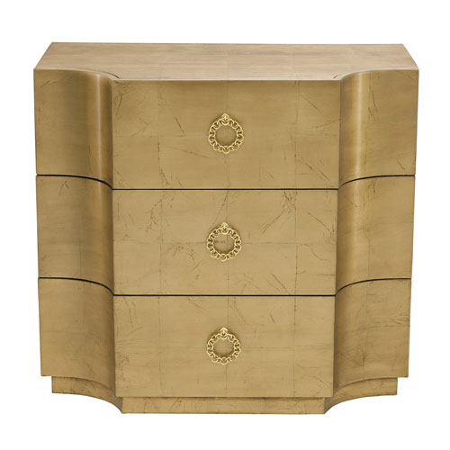 Jet Set Gold Leaf Maple Veneers Chest