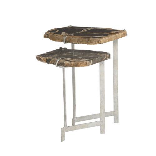 Ardelle Chrome Nesting Tables, Set of 2