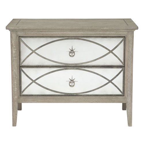 Marquesa Gray Cashmere 38-Inch Nightstand