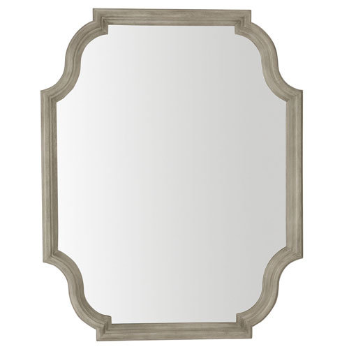 Marquesa Gray Cashmere Wood and Mirrored Glass 38-Inch Mirror