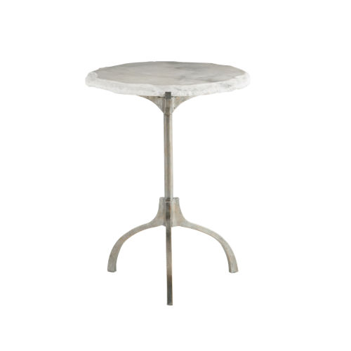 Hadera White Chairside Table