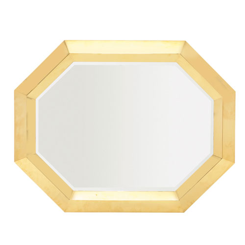 Soho Luxe Polished Brass Stainless Steel and Mirrored Glass Mirror