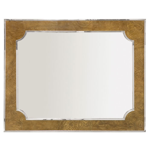 Soho Luxe Dark Caramel and Silver 36-Inch Mirror