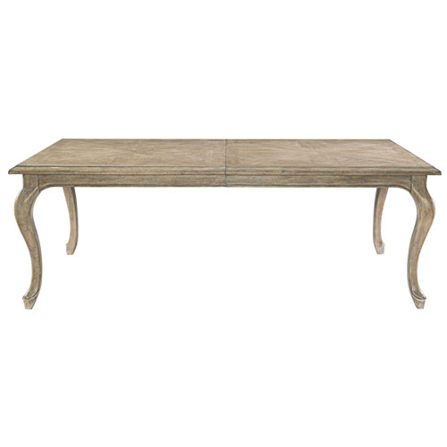 Campania Weathered Sand White Oak Veneers Dining Table