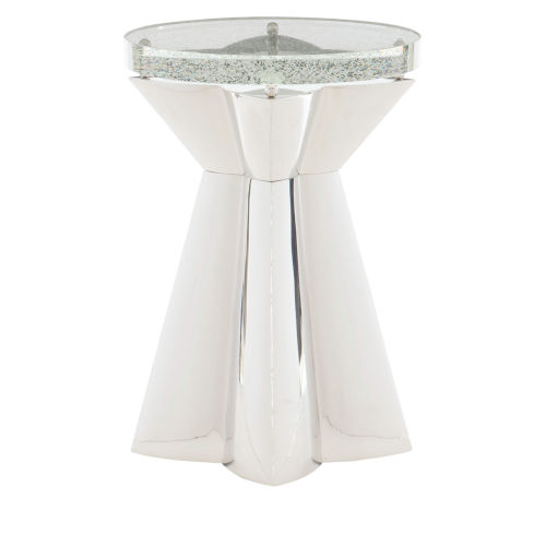 Anika White Chairside Table