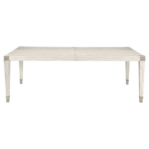 Domaine Blanc Dove White and Tarnished Nickel 89-Inch Dining Table