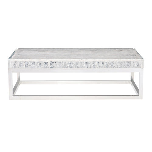 Arctic Polished Chrome Cocktail Table