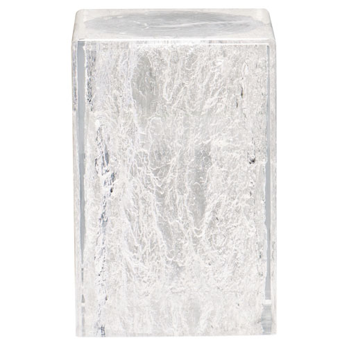 Interiors Clear Solid Acrylic Chairside Table