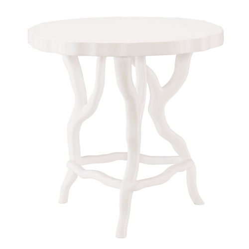 Arbor White Chairside Table