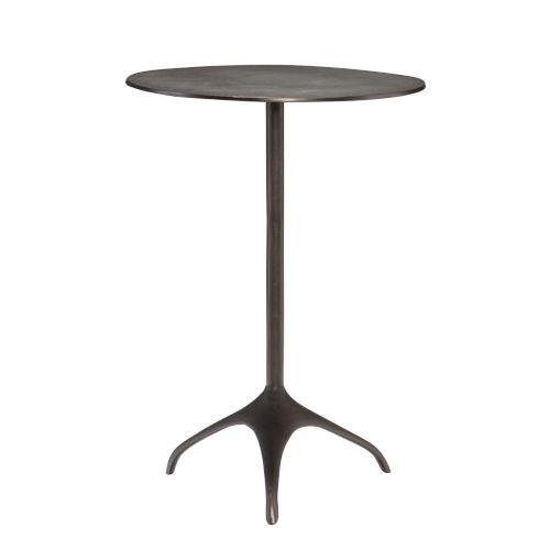 Segovla Black Nickel Chairside Table