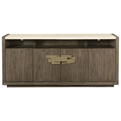 Profile Warm Taupe, Tapestry Gold and Travertine Stone 72-Inch Buffet