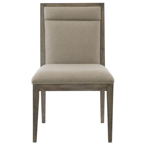 Profile Warm Taupe Wood and Fabric 22-Inch Dining Chair